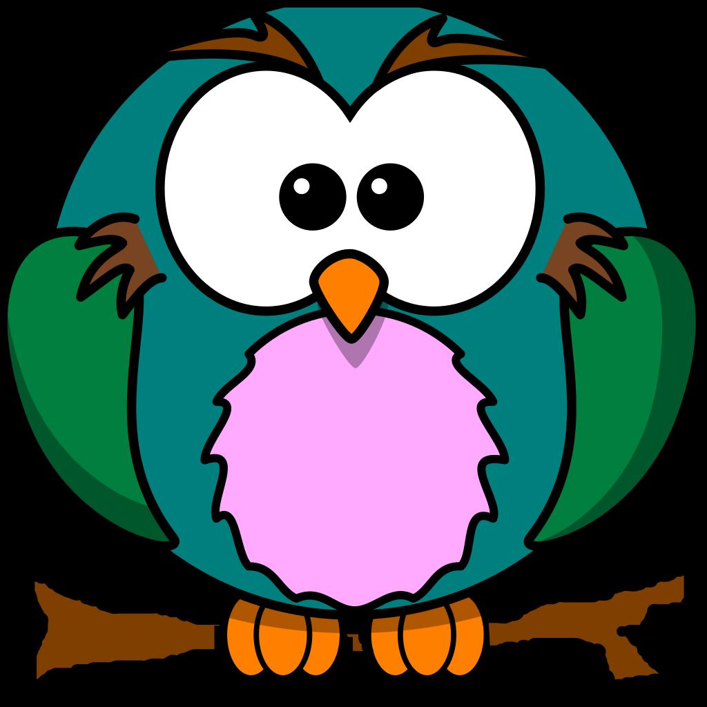 Cute Owl On Branch SVG Clip arts