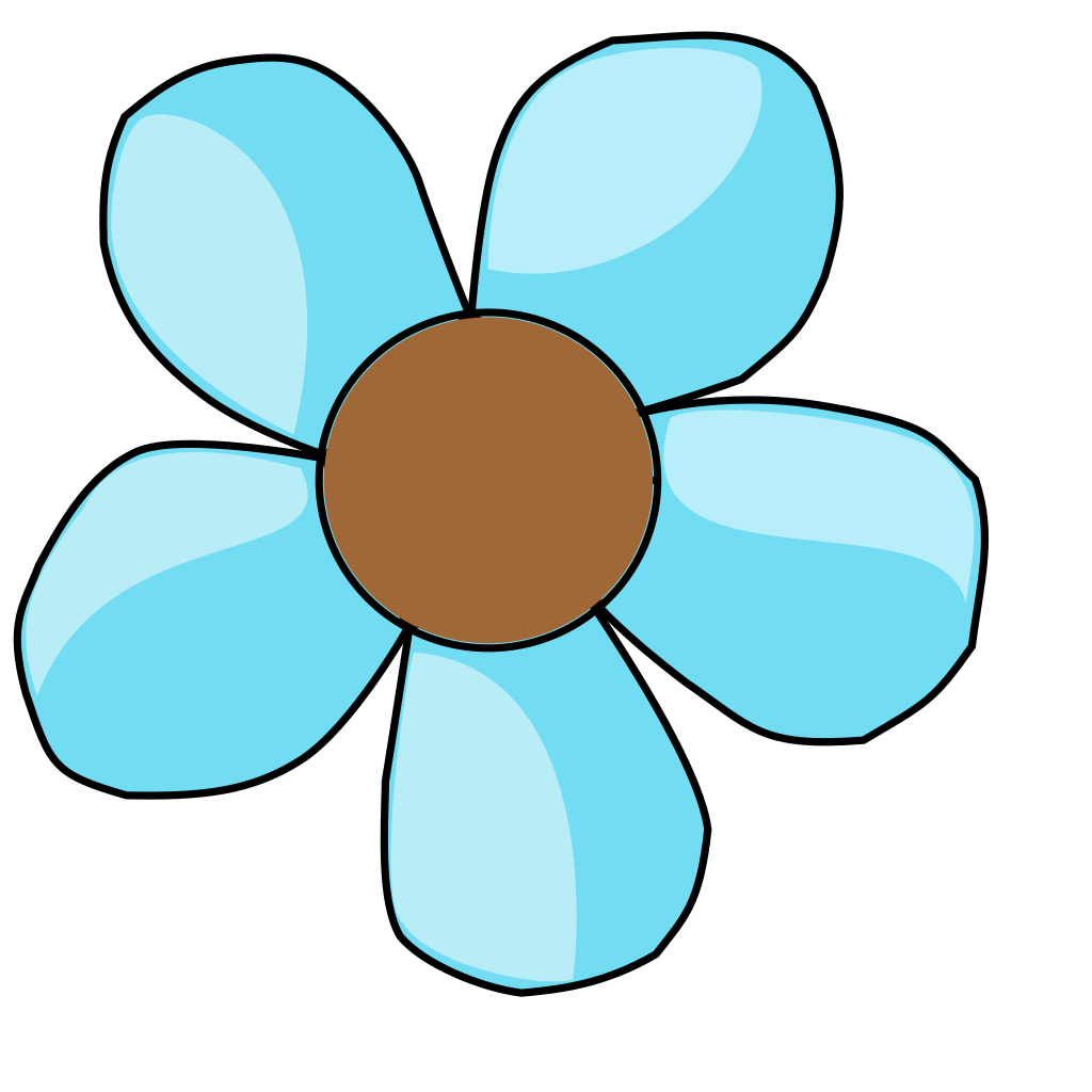 Turquoise Flower SVG Clip arts
