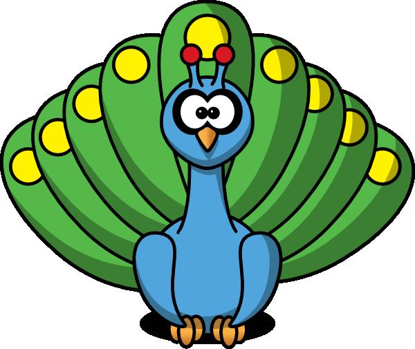 Bird Peacock SVG Clip arts