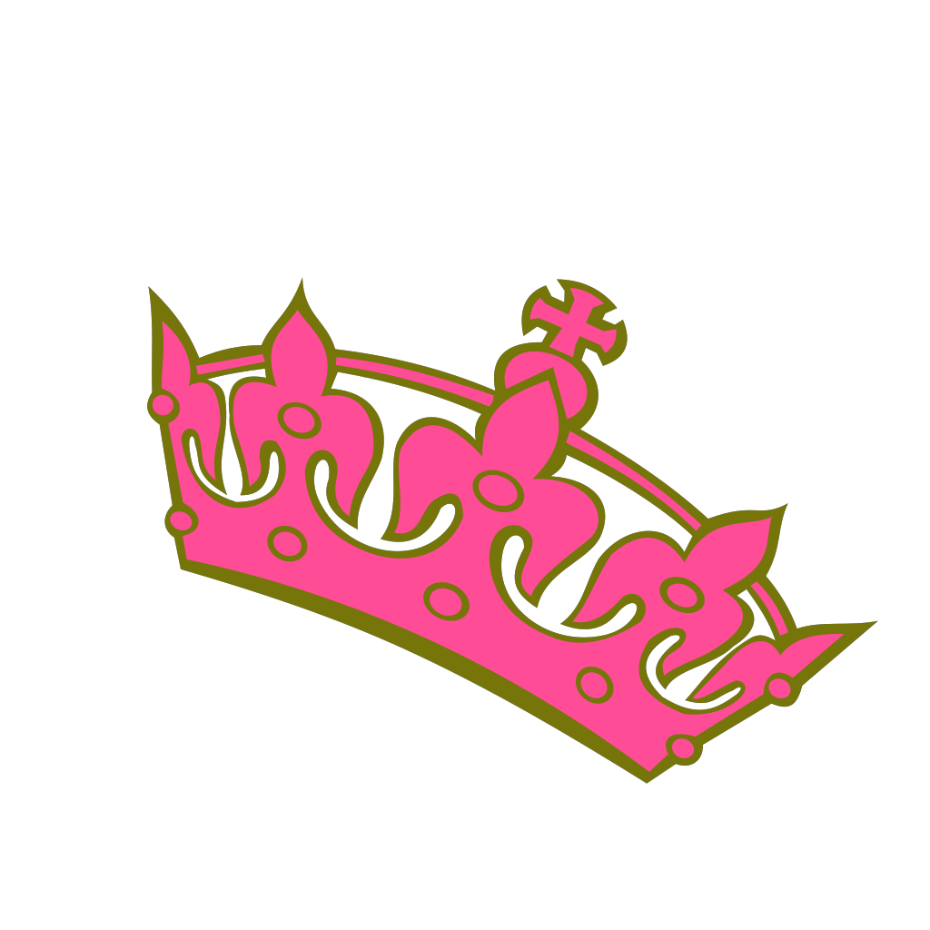 Pink Army Tilted Tiara SVG Clip arts