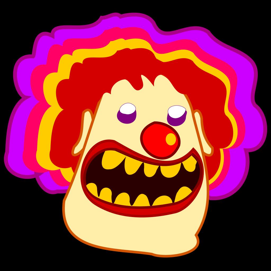 Cartoon Clown SVG Clip arts