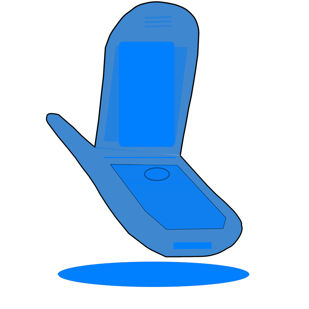 Blue Cell Phone SVG Clip arts