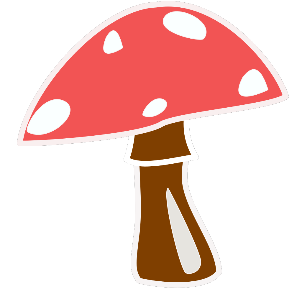Red Top Mushroom No Letter SVG Clip arts