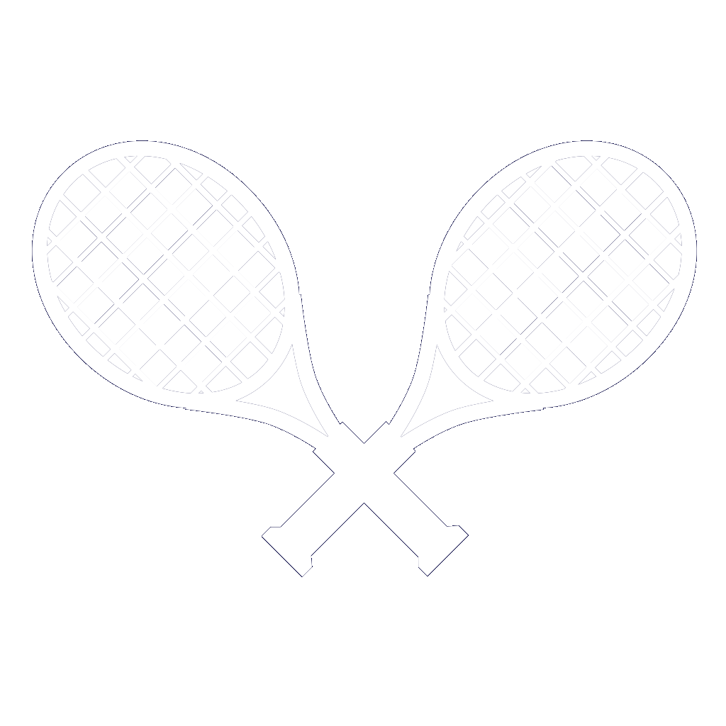 Dueling Rackets SVG Clip arts