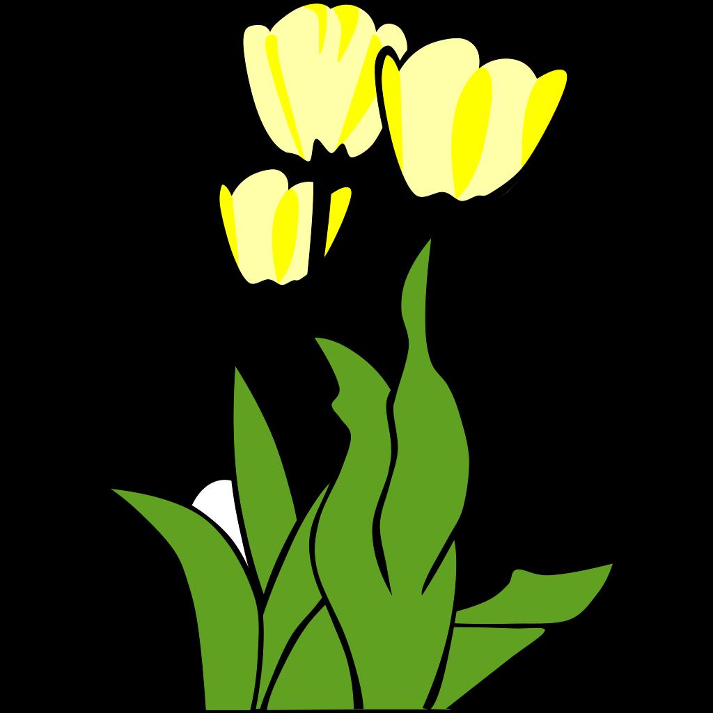 Yellow Flower SVG Clip arts