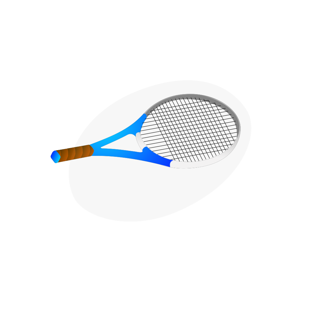 Horizontal Tennis Racquet SVG Clip arts