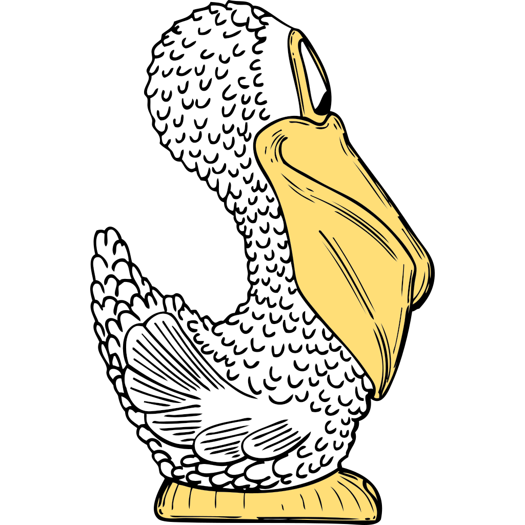 Pelican Side View SVG Clip arts