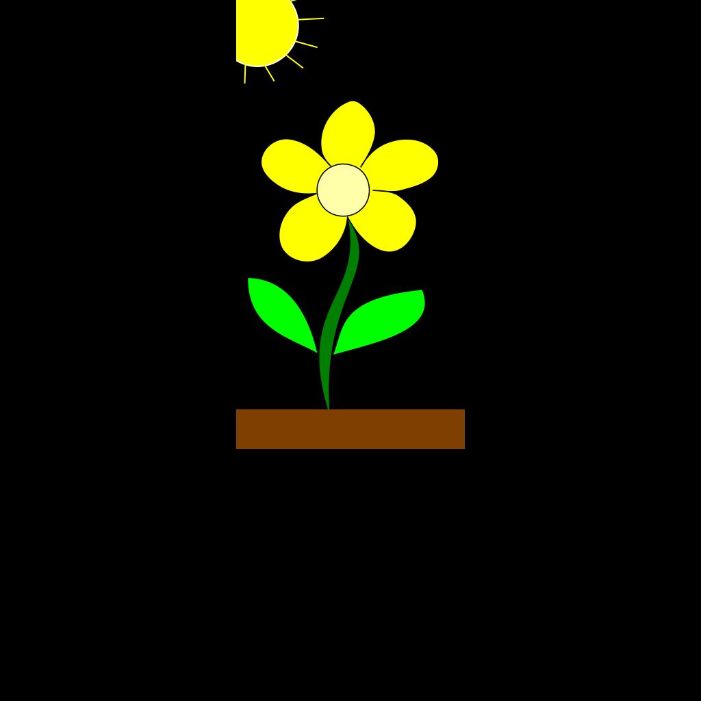 Flower In Sun SVG Clip arts