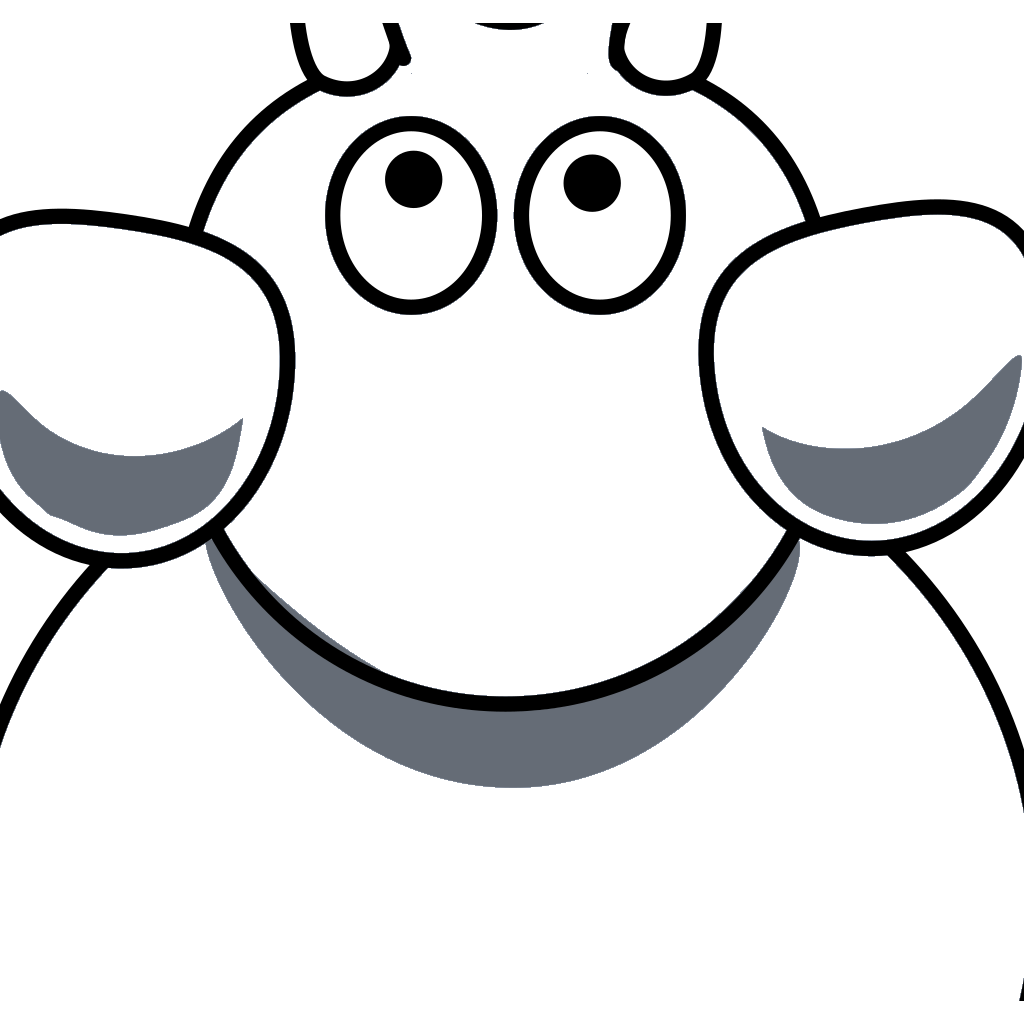Elephant Top View 2c SVG Clip arts