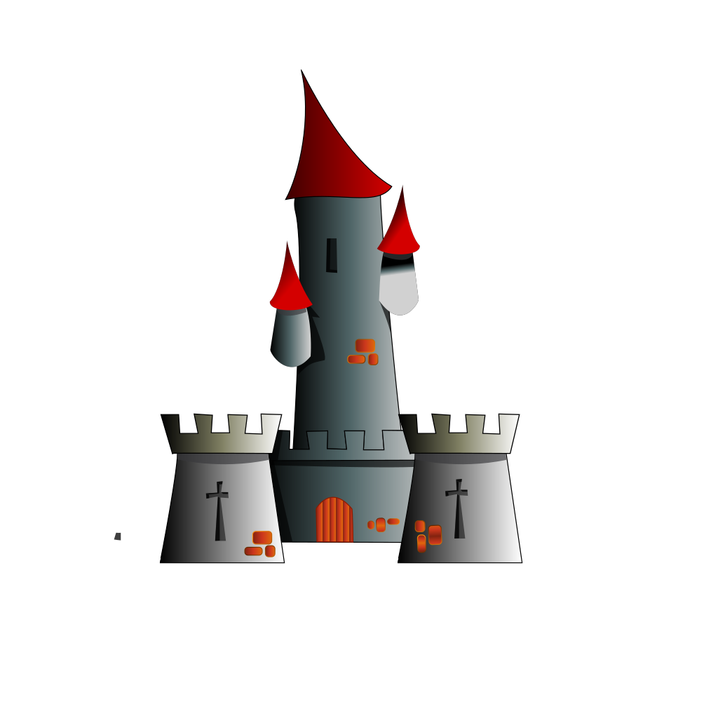 Chateau Citadel Fort Castle SVG Clip arts