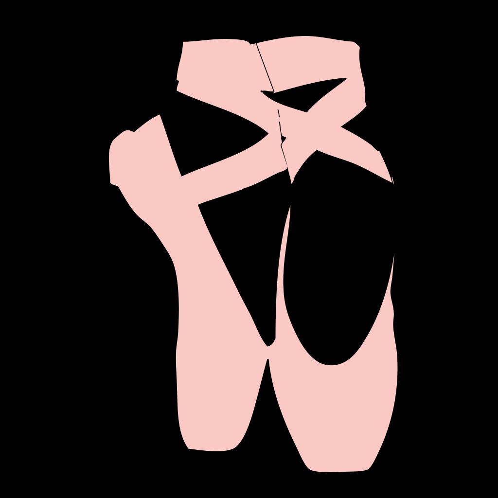 Ballet Slippers SVG Clip arts