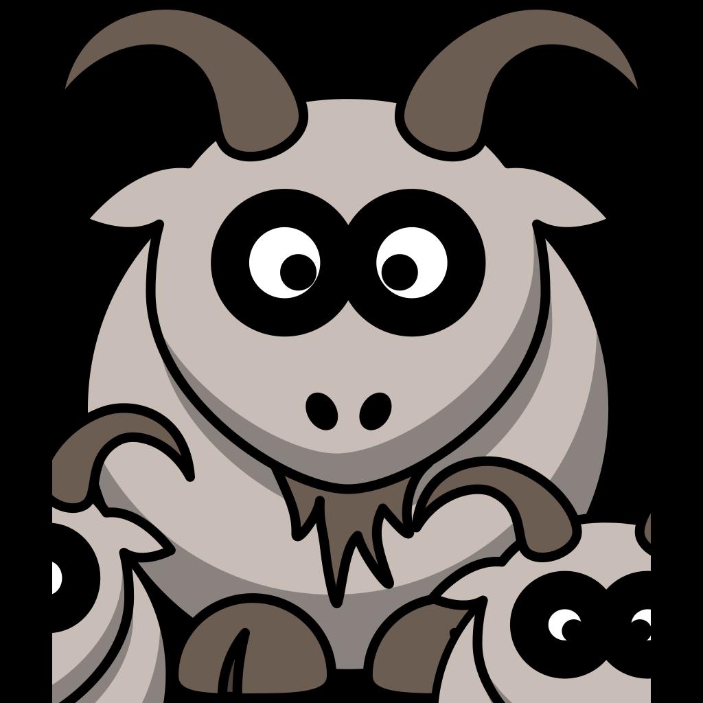 Baby Goats SVG Clip arts
