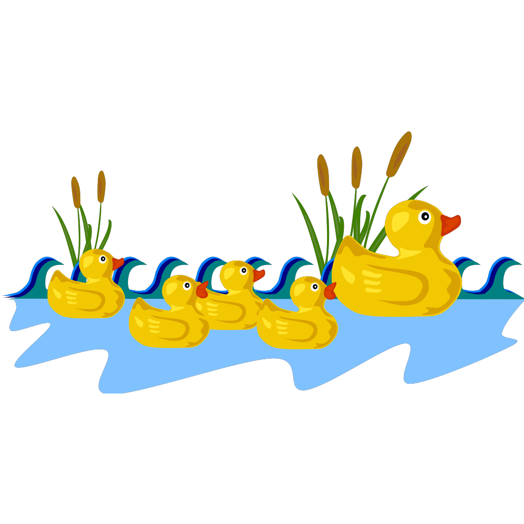 Duck Pond SVG Clip arts