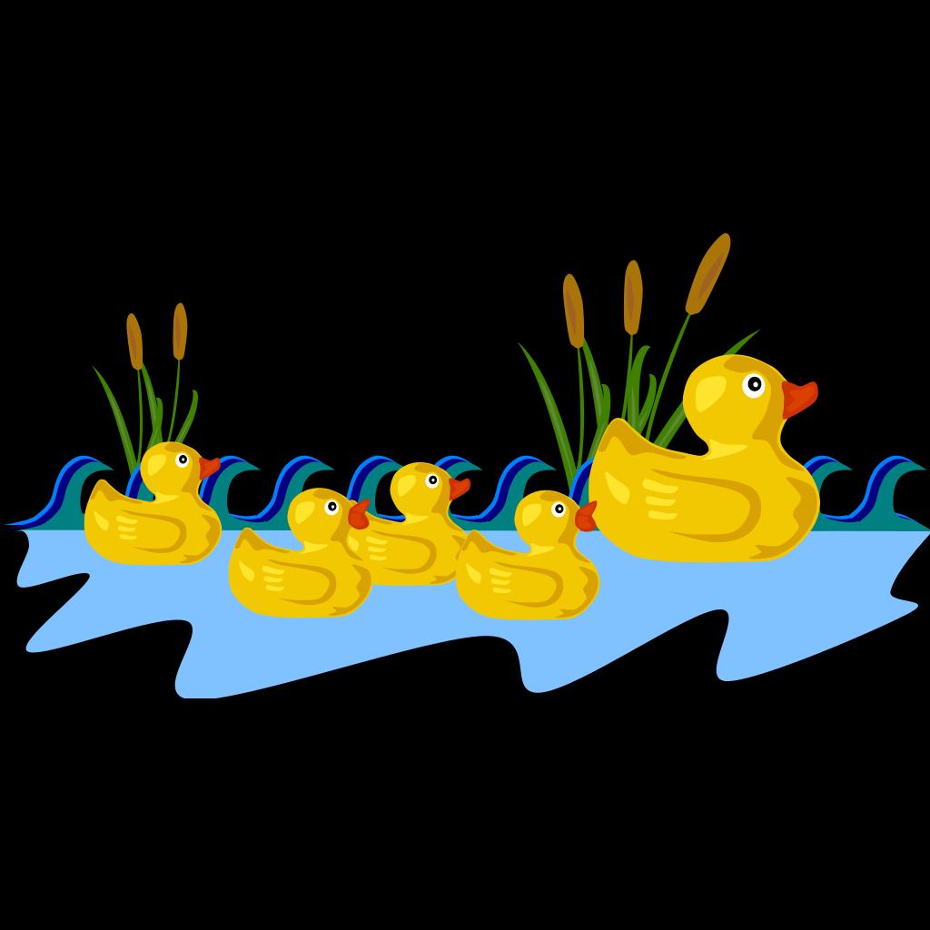 Duck Pond SVG Clip arts