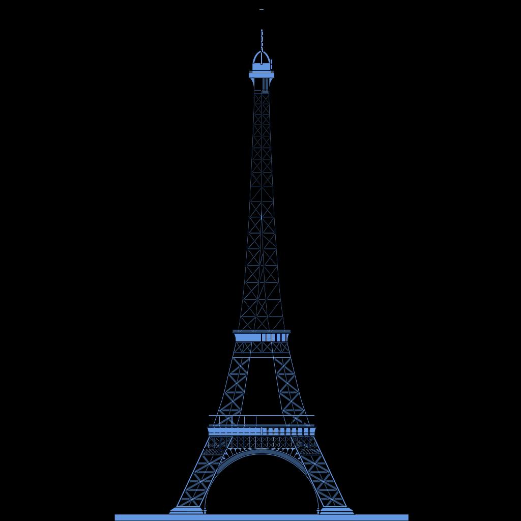 La Tour Eiffel (eiffel Tower) SVG Clip arts