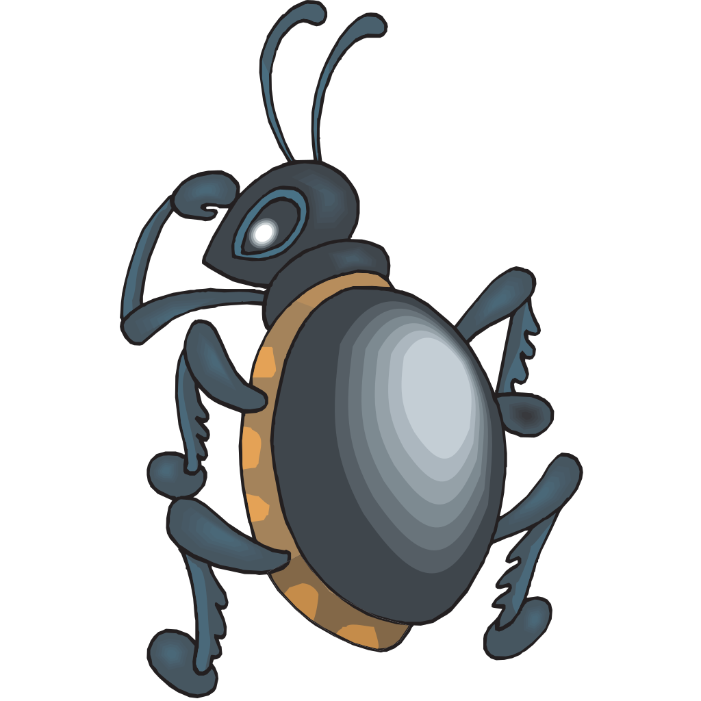 Beetle Looking Over Shoulder SVG Clip arts