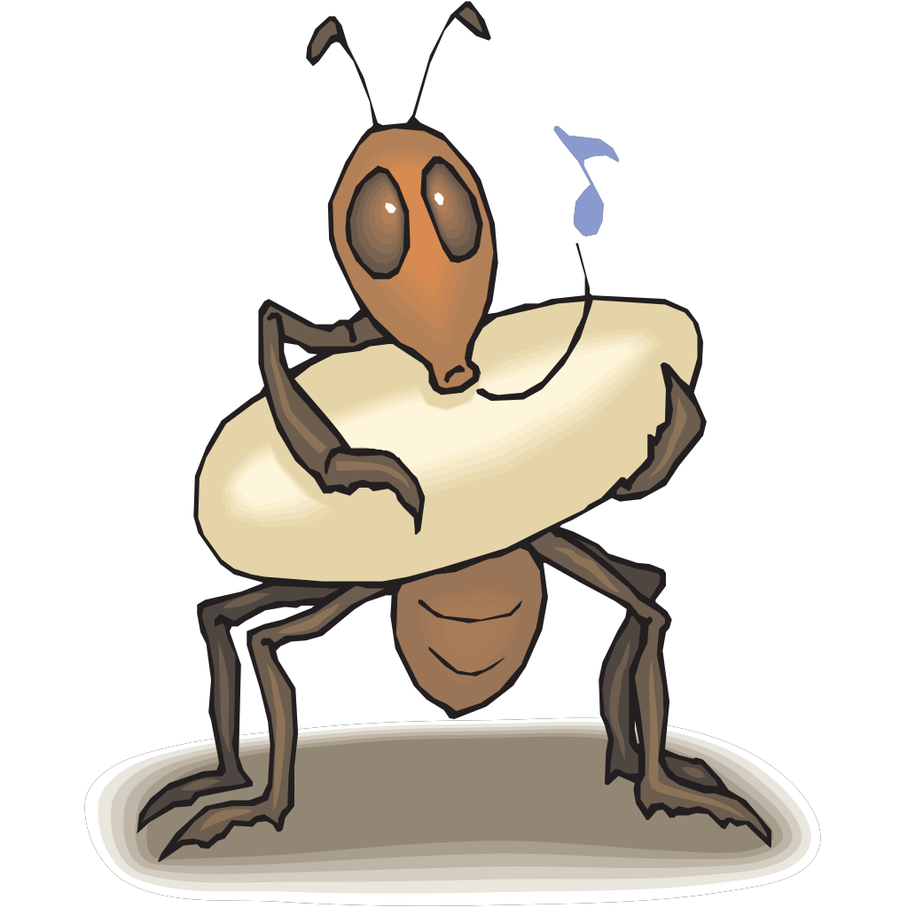 Ant Rocking Egg To Sleep SVG Clip arts