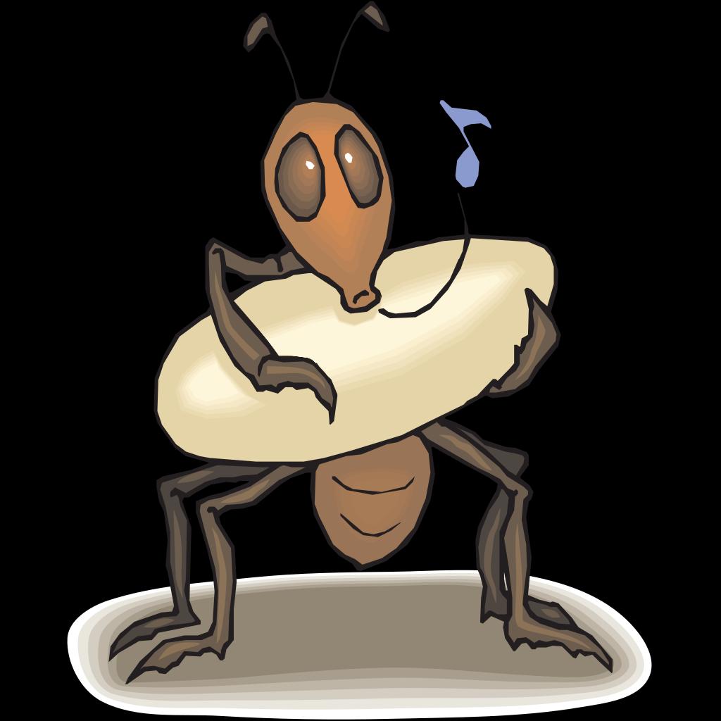 Ant Rocking Egg To Sleep SVG Clip arts