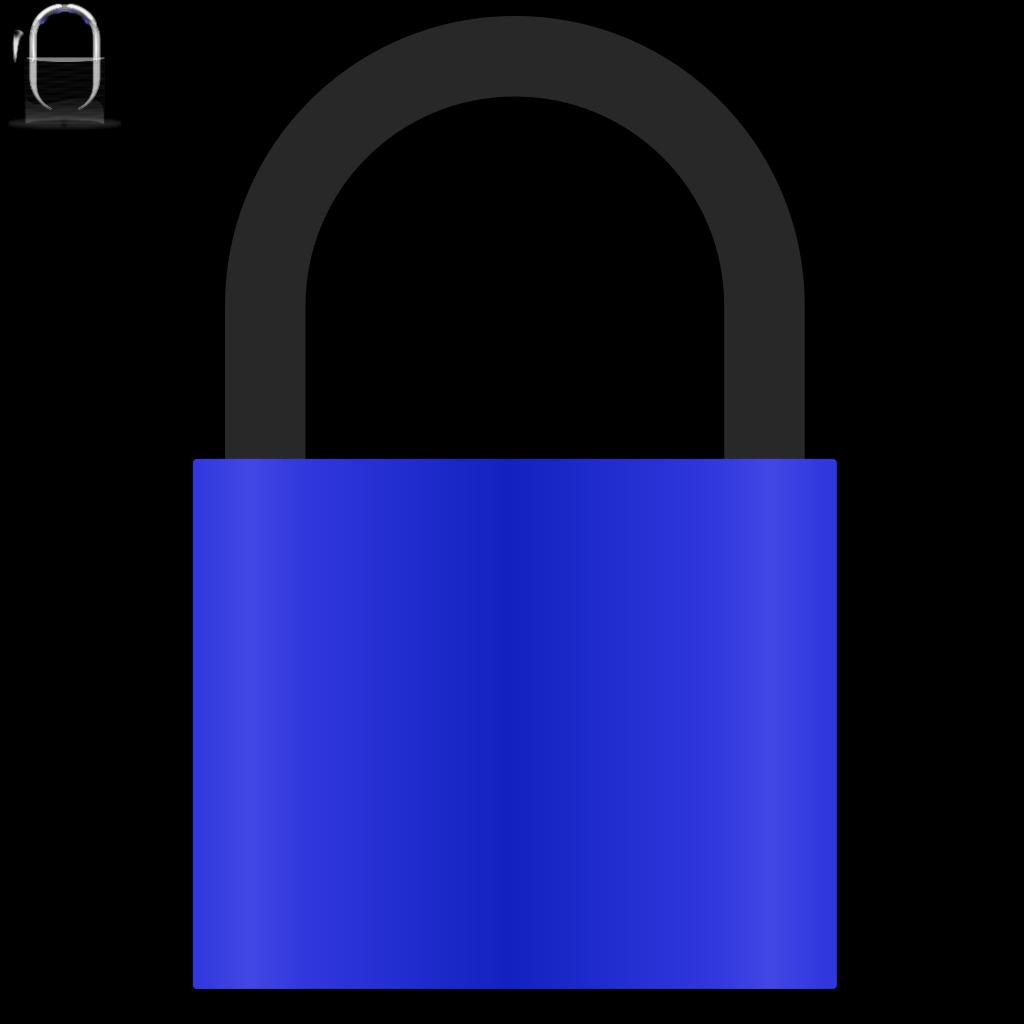 Padlock Blue SVG Clip arts