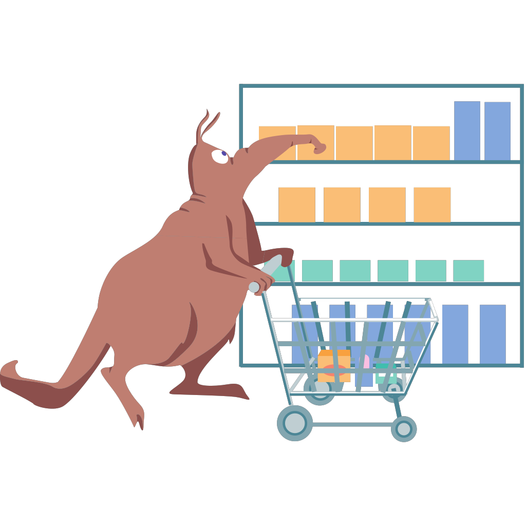 Shopping Aardvark SVG Clip arts