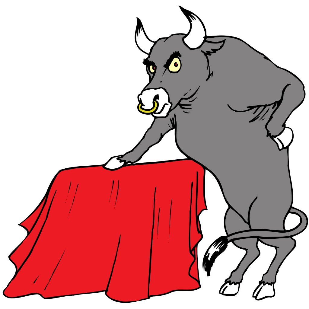 Bull With Red Cape SVG Clip arts