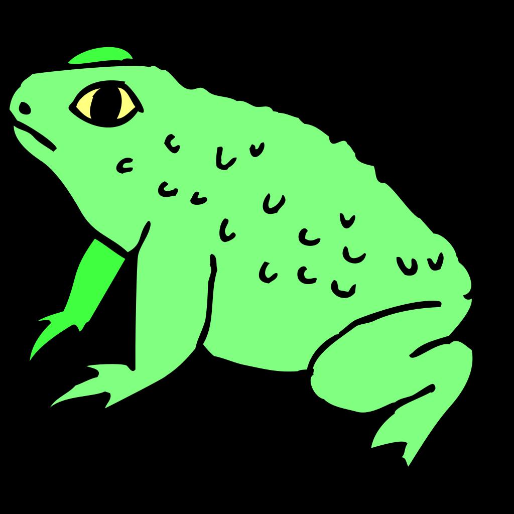Warty Frog SVG Clip arts
