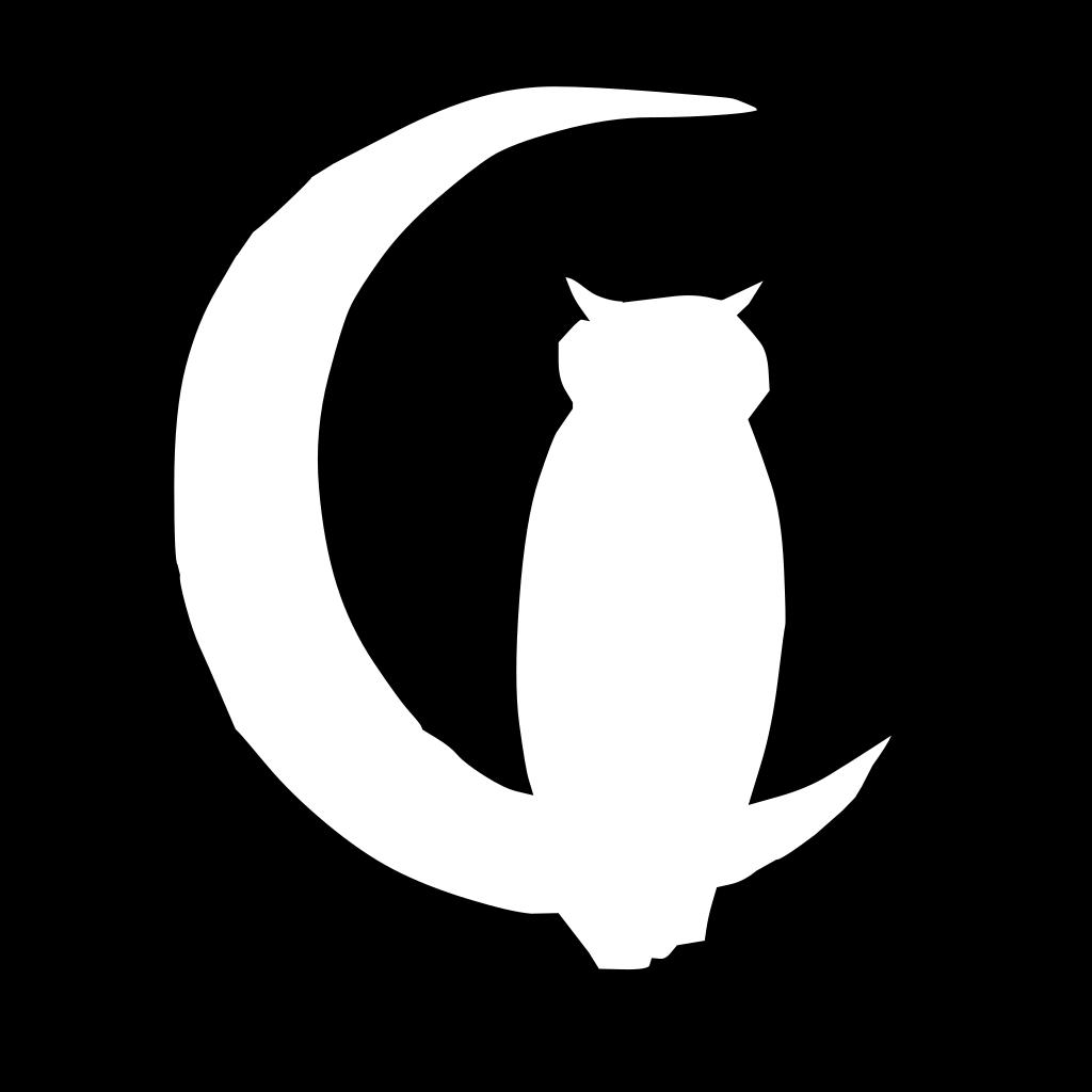Owl Moon 5 SVG Clip arts