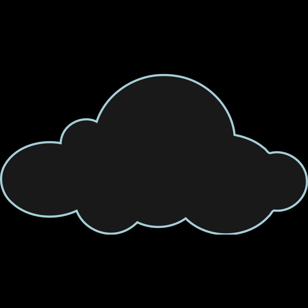 Dark Clouds SVG Clip arts