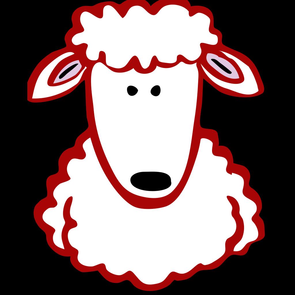 Red Lamb SVG Clip arts