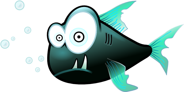 Confused Piranha SVG Clip arts