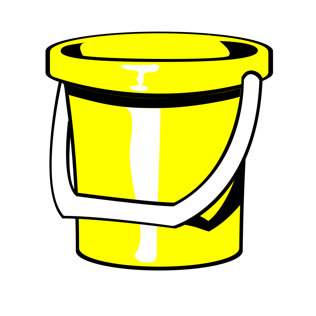 Yellow Bucket SVG Clip arts