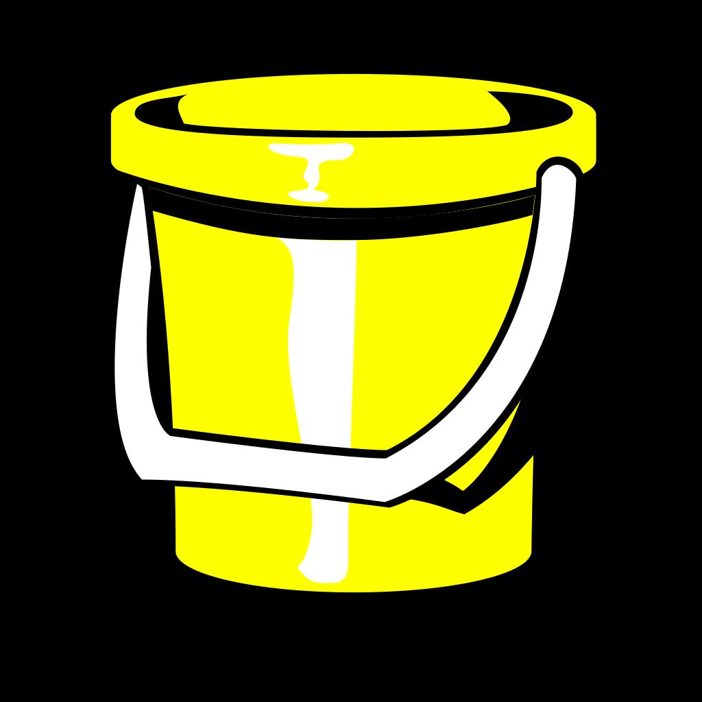 Yellow Bucket SVG Clip arts