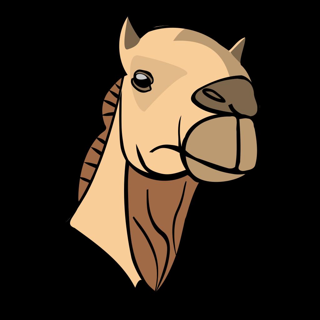 Cartoon Camel Head SVG Clip arts