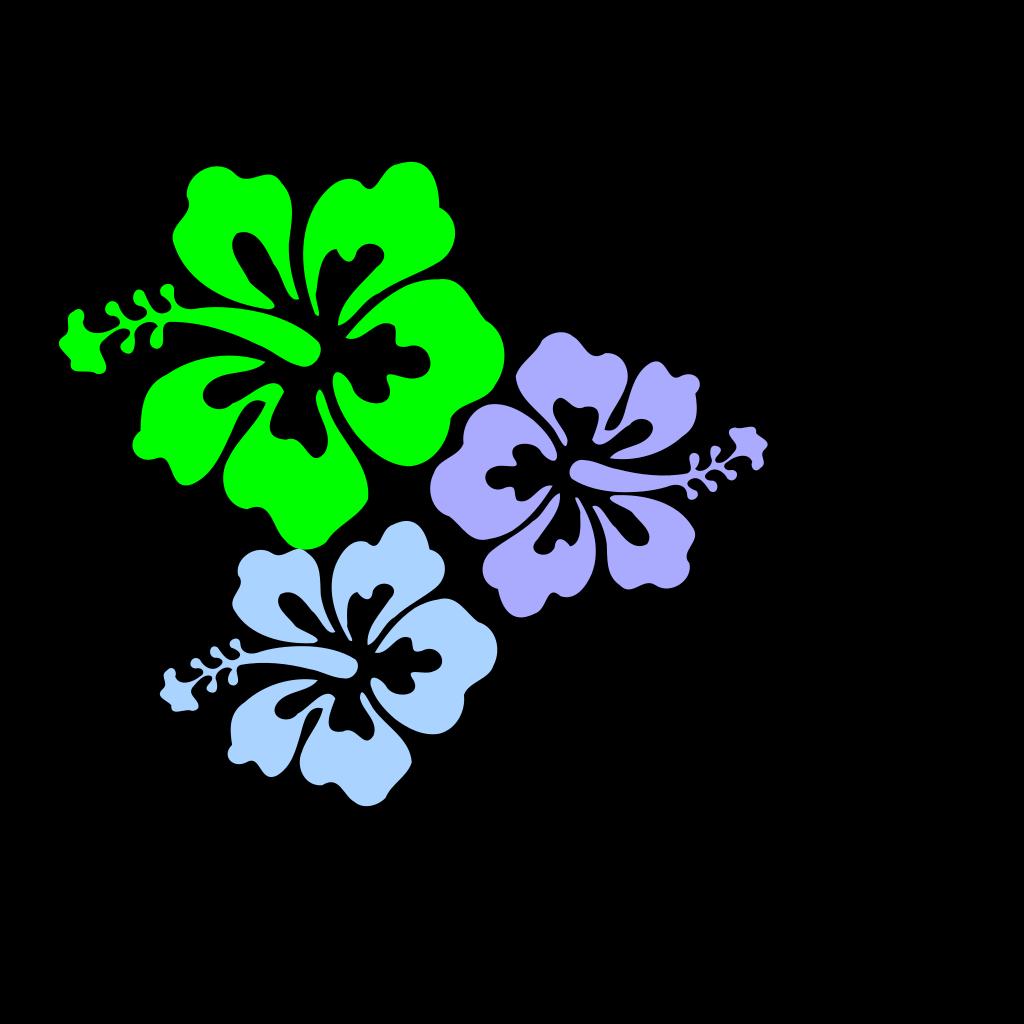 Hibiscus Flower 6 SVG Clip arts