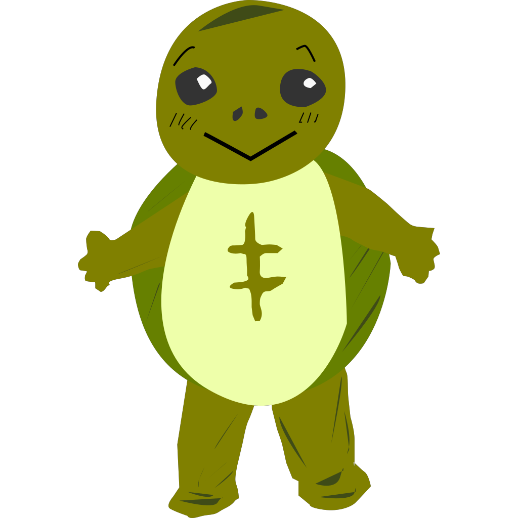Cartoon Turtle Character SVG Clip arts