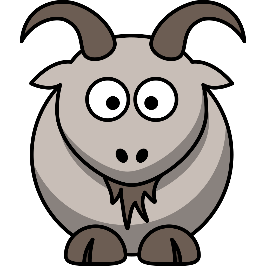 Cartoon Goat SVG Clip arts