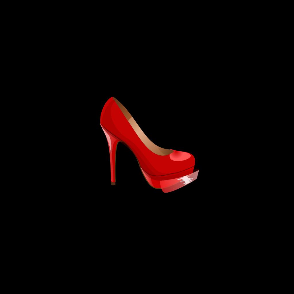 Red High Heel SVG Clip arts