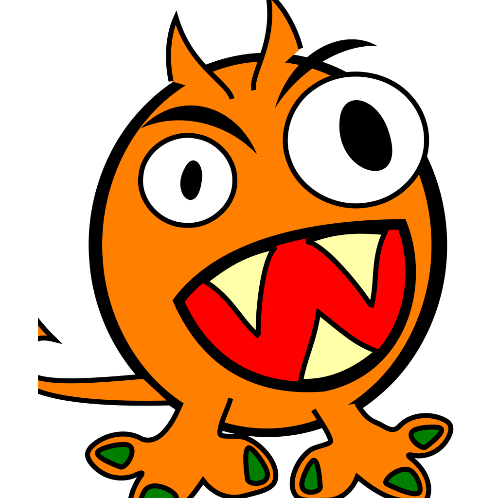 Orange Monster SVG Clip arts