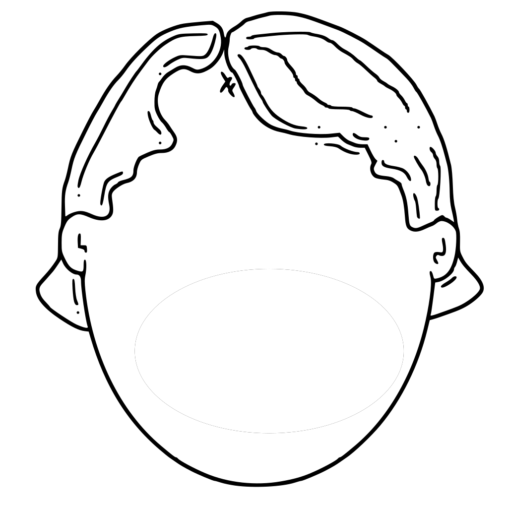 Blank Face Boy SVG Clip arts