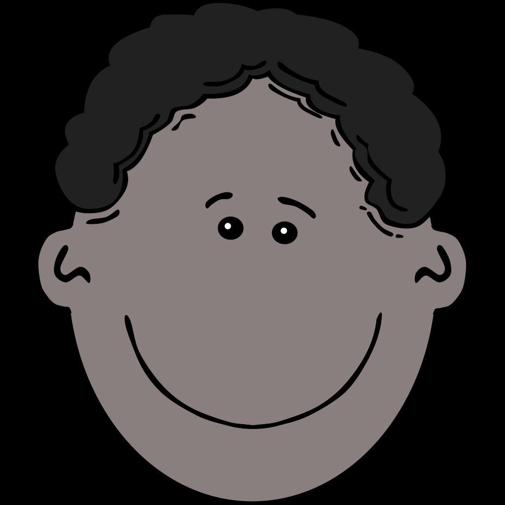 Happy Boy Face Cartoon SVG Clip arts