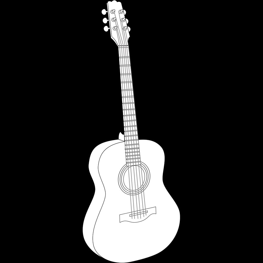 Black Guitar SVG Clip arts
