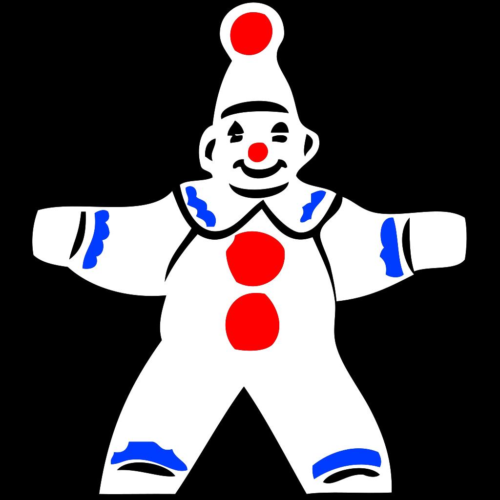 Simple Clown Figure SVG Clip arts