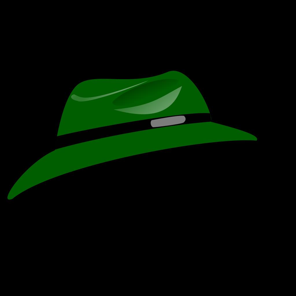 Green Fedora SVG Clip arts