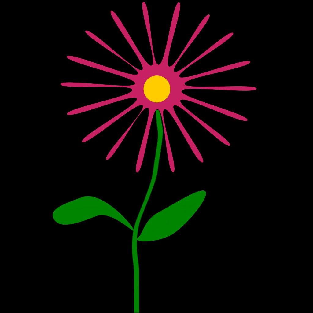 Whimsical Pink Flower SVG Clip arts