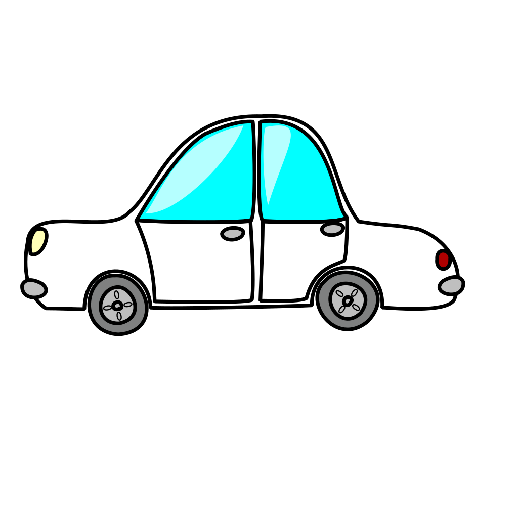 Cartoon White Car SVG Clip arts
