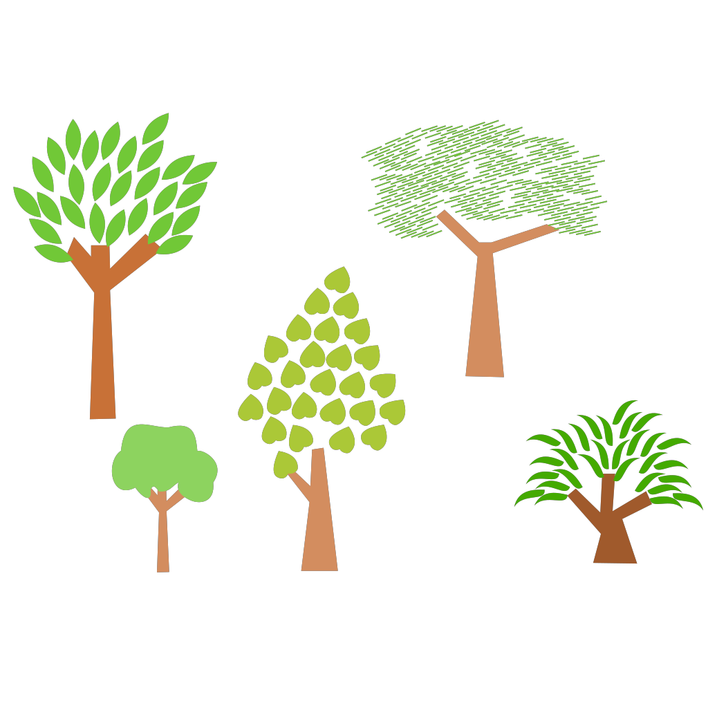 Cartoon Trees SVG Clip arts
