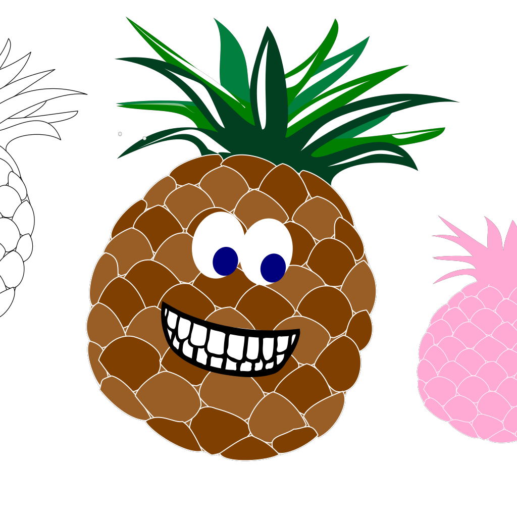 Pineapple Variations  SVG Clip arts