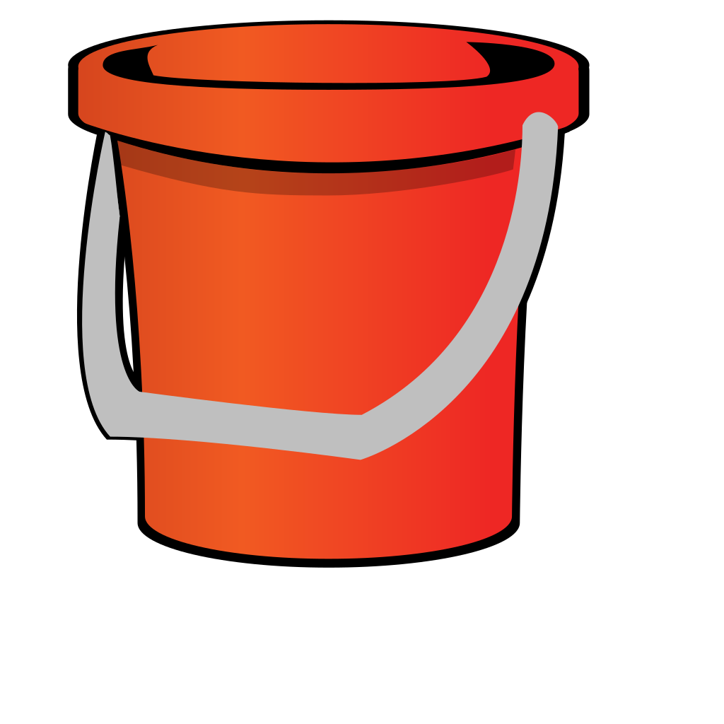 Red Bucket SVG Clip arts