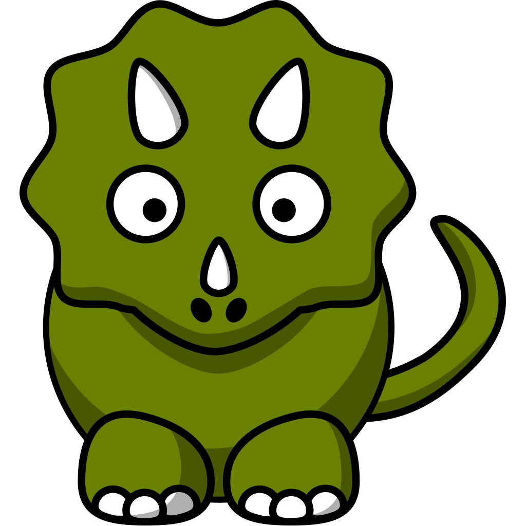 Cartoon Triceratops SVG Clip arts
