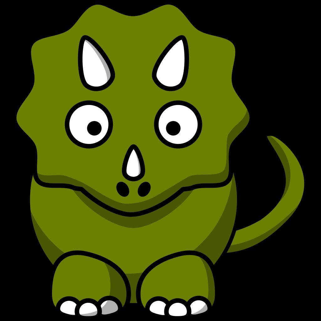 Cartoon Triceratops SVG Clip arts